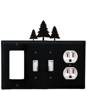 Pine Trees - Single GFI, Double Switch and Single Outlet Cover - CUSTOM Product - If Out Of Stock, Allow 4 to 6 Weeks