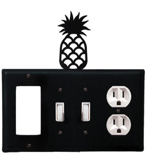 Pineapple - Single GFI, Double Switch and Single Outlet Cover - CUSTOM Product - If Out Of Stock, Allow 4 to 6 Weeks