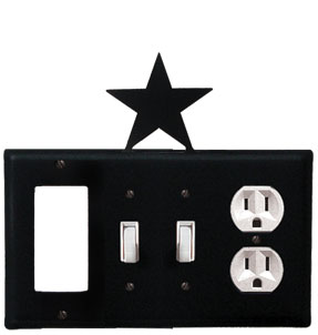 Star - Single GFI, Double Switch and Single Outlet Cover - CUSTOM Product - If Out Of Stock, Allow 4 to 6 Weeks