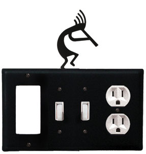 Kokopelli - Single GFI, Double Switch and Single Outlet Cover - CUSTOM Product - If Out Of Stock, Allow 4 to 6 Weeks