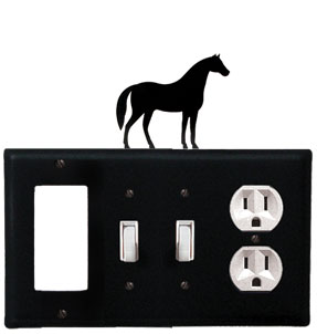Horse - Single GFI, Double Switch and Single Outlet Cover - CUSTOM Product - If Out Of Stock, Allow 4 to 6 Weeks