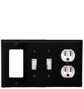 Plain - Single GFI, Double Switch and Single Outlet Cover - CUSTOM Product - If Out Of Stock, Allow 4 to 6 Weeks