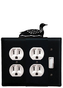 Loon - Double Outlet and Single Switch Cover - CUSTOM Product - If Out Of Stock, Allow 4 to 6 Weeks