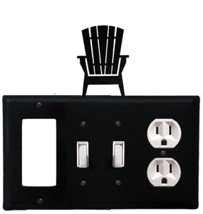 Adirondack - Single GFI, Double Switch and Single Outlet Cover - CUSTOM Product - If Out Of Stock, Allow 4 to 6 Weeks