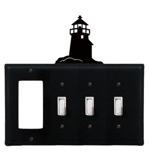 Lighthouse - Single GFI and Triple Switch Cover
