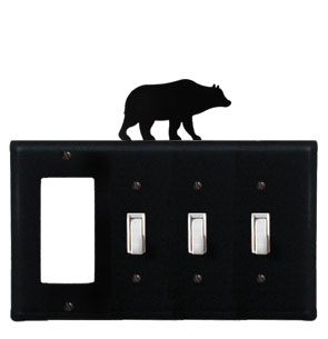 Bear - Single GFI and Triple Switch Cover - CUSTOM Product - If Out Of Stock, Allow 4 to 6 Weeks