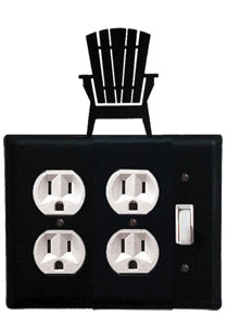 Adirondack - Double Outlet and Single Switch Cover - CUSTOM Product - If Out Of Stock, Allow 4 to 6 Weeks