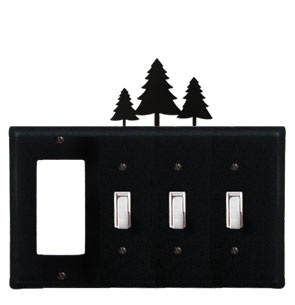 Pine Trees - Single GFI and Triple Switch Cover