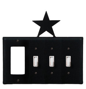 Star - Single GFI and Triple Switch Cover