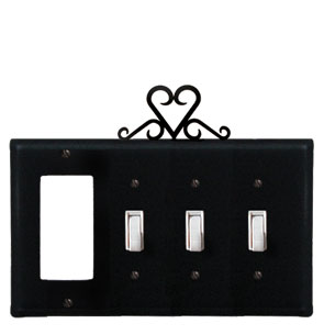 Heart - Single GFI and Triple Switch Cover