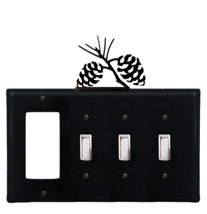 Pinecone - Single GFI and Triple Switch Cover