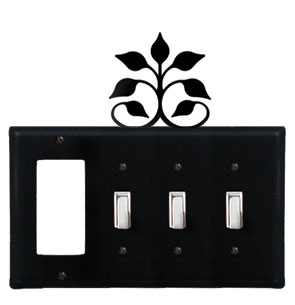 Leaf Fan - Single GFI and Triple Switch Cover - CUSTOM Product - If Out Of Stock, Allow 4 to 6 Weeks