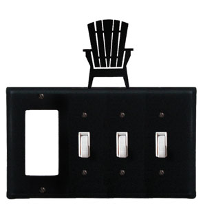 Adirondack - Single GFI and Triple Switch Cover - CUSTOM Product - If Out Of Stock, Allow 4 to 6 Weeks