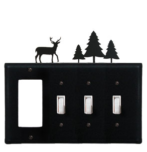 Deer & Pine Trees - Single GFI and Triple Switch Cover