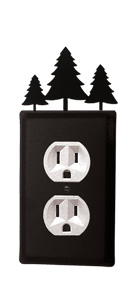 Pine Trees - Single Outlet Cover