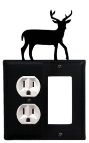 Deer - Single Outlet and GFI Cover