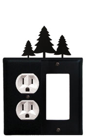 Pine Trees - Single Outlet and GFI Cover