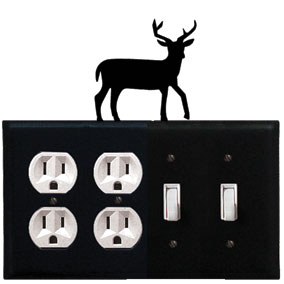 Deer - Double Outlet and Double Switch Cover