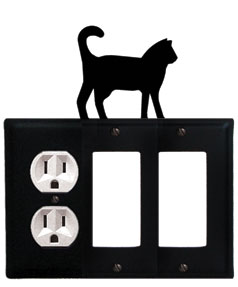 Cat - Single Outlet and Double GFI Cover
