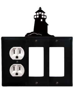 Lighthouse - Single Outlet and Double GFI Cover