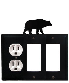 Bear - Single Outlet and Double GFI Cover
