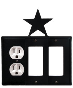 Star - Single Outlet and Double GFI Cover