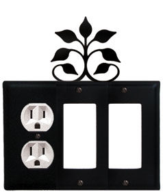 Leaf Fan - Single Outlet and Double GFI Cover