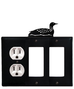 Loon - Single Outlet and Double GFI Cover