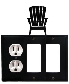 Adirondack - Single Outlet and Double GFI Cover