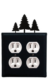 Pine Trees - Double Outlet Cover