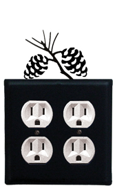 Pinecone - Double Outlet Cover