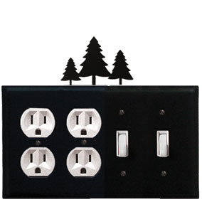 Pine Trees - Double Outlet and Double Switch Cover