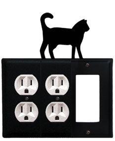 Cat - Double Outlet and Single GFI Cover