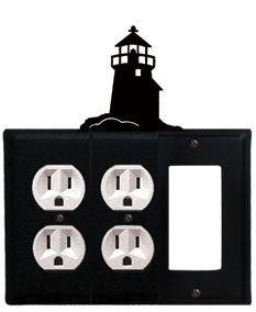 Lighthouse - Double Outlet and Single GFI Cover