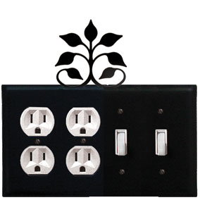 Leaf Fan - Double Outlet and Double Switch Cover