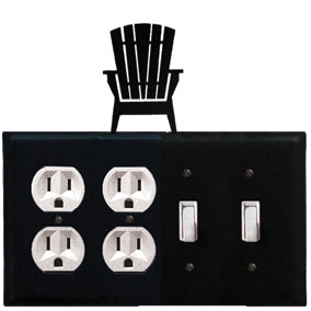 Adirondack - Double Outlet and Double Switch Cover
