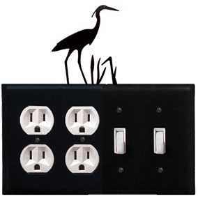 Heron - Double Outlet and Double Switch Cover