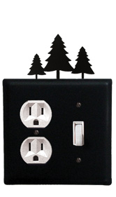 Pine Trees - Single Outlet and Switch Cover