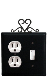 Heart - Single Outlet and Switch Cover