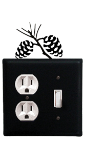 Pinecone - Single Outlet and Switch Cover