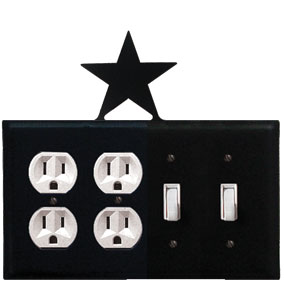 Star - Double Outlet and Double Switch Cover