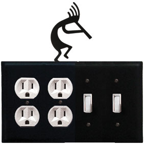Kokopelli - Double Outlet and Double Switch Cover