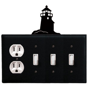 Lighthouse - Single Outlet and Triple Switch Cover - CUSTOM Product - If Out Of Stock, Allow 4 to 6 Weeks