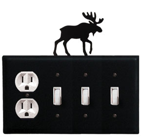 Moose - Single Outlet and Triple Switch Cover - CUSTOM Product - If Out Of Stock, Allow 4 to 6 Weeks
