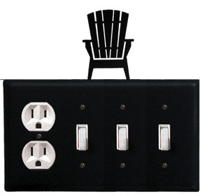 Adirondack - Single Outlet and Triple Switch Cover - CUSTOM Product - If Out Of Stock, Allow 4 to 6 Weeks