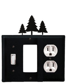 Pine Trees - Single Switch, GFI and Outlet Cover
