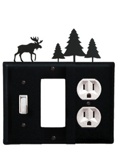 Moose & Pine Trees - Single Switch, GFI and Outlet Cover