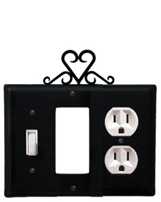 Heart - Single Switch, GFI and Outlet Cover