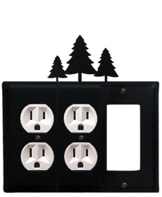 Pine Trees - Double Outlet and Single GFI Cover