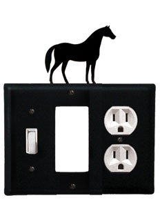 Horse - Single Switch, GFI and Outlet Cover - CUSTOM Product - If Out Of Stock, Allow 4 to 6 Weeks